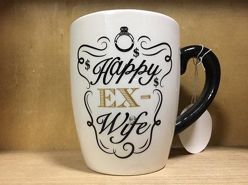 """""""Happy Ex-Wife"""" Ceramic Mug"""