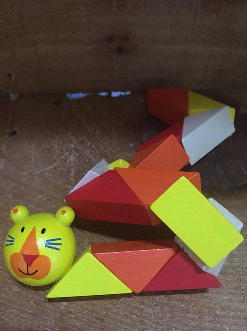 Yellow Cat Wooden Fidget Toy