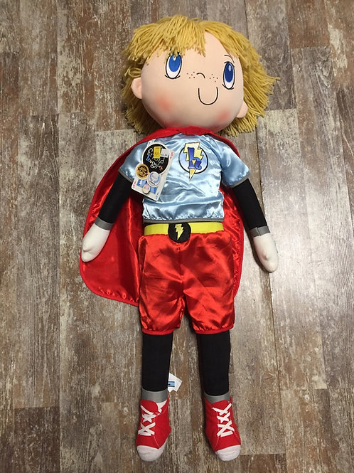 "33"" Myles Superhero My Friend Huggles Plush Stuffed Doll"