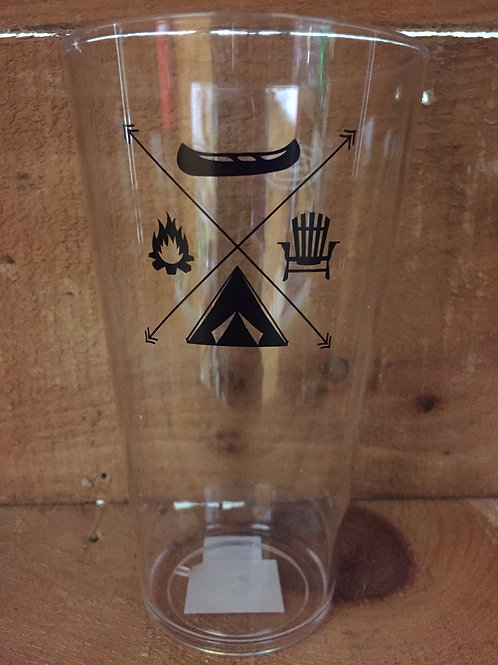 Camping Pattern Acrylic Tumbler by Abbott
