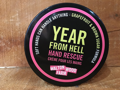 """""""Year from Hell"""" Grapefruit and Brown Sugar 4oz Hand Rescue by Walton Wood Farms"""