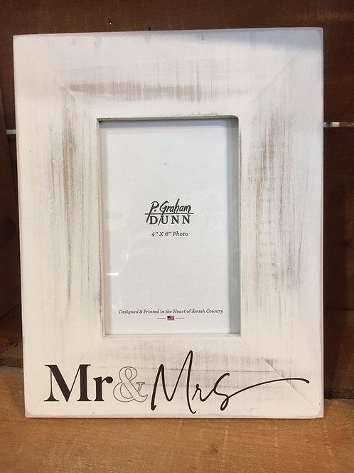 "9.75"" x 7.75"" ""Mr & Mrs"" 4"" x 6"" Photo Frame by P. Graham Dunn"