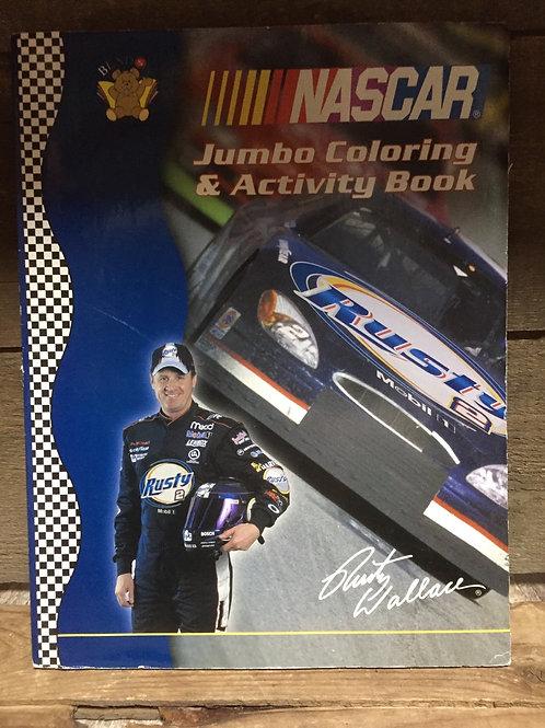 Blue NASCAR Jumbo Colouring and Activity Book