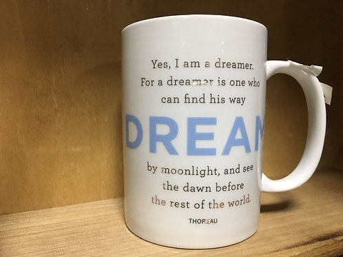 """Dream"" Quote Ceramic Mug"