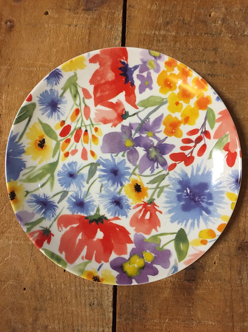 "8"" Wildflower Plate by Abbott"