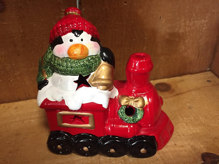 Light Up Penguin Train Figurine