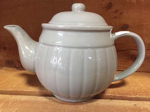 "9"" x 6"" x 5"" Grey Ribbed Teapot by Verdici Designs"