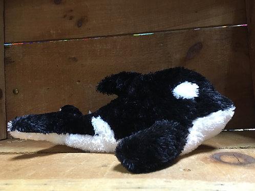 "9"" Orca or Killer Whale Aurora Brand Plush Stuffed Animal"