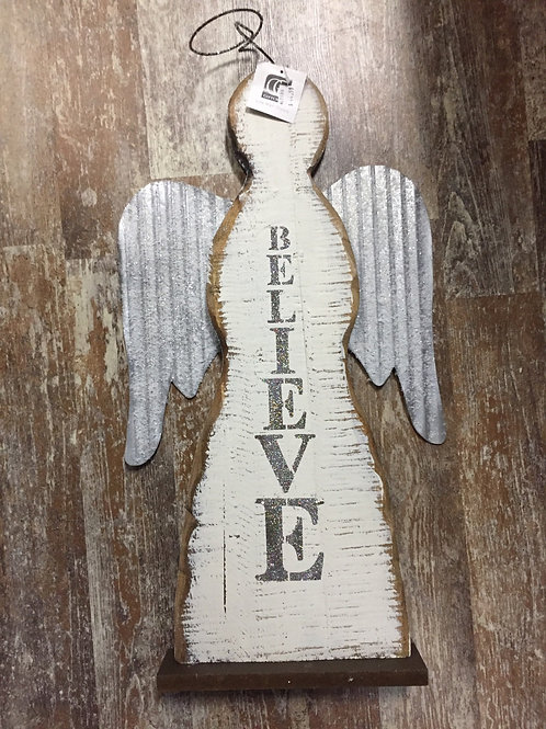 Wooden Angel Silouette