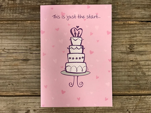 """""""This is Just the Start…"""" Wedding  7"""" x 5"""" Greeting Card by Designer Greetings"""