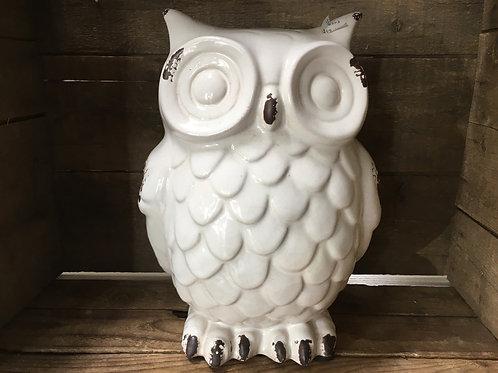 "12"" x 8.5"" x 8""  Ceramic Owl Statue by Abbott"