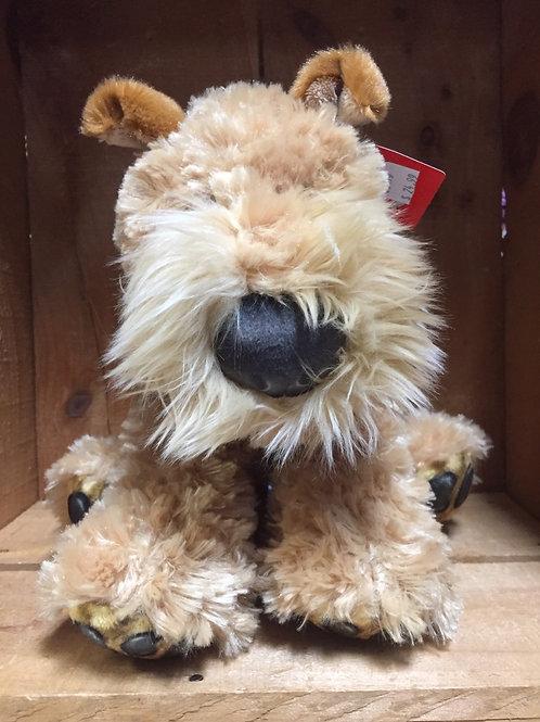 "10"" Fox Terrier Dog Plush Stuffed Animal"