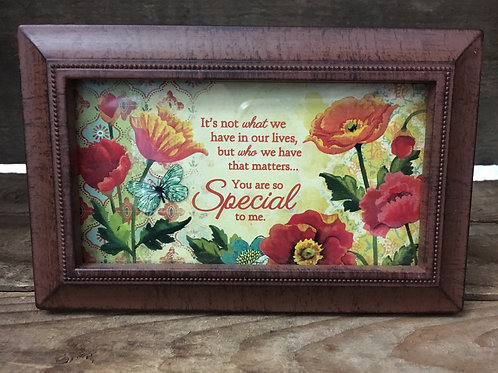 """6""""x 3.75"""" Brown Plastic Frame with Sentiment by Carson Home Accents"""