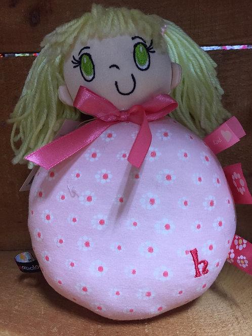 "8"" Blond Haired My Friend Huggles Plush Stuffed Doll"