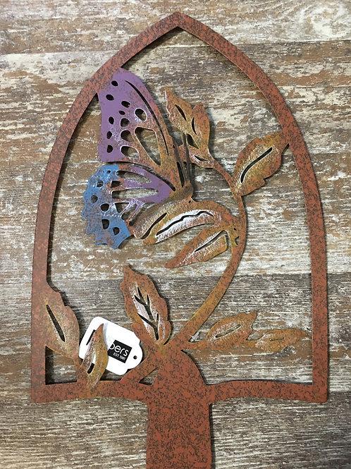 "34.5"" x 9.25"" Metal Butterfly Garden Stake"