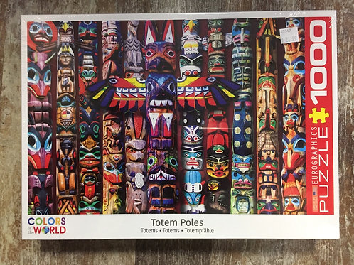 Totem Poles Colours is the World 1000 Piece Eurographics Puzzle