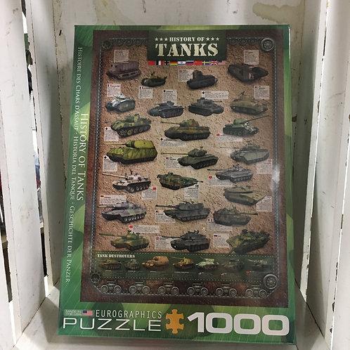 1000 Pc Eurographics Puzzle -History of Tanks