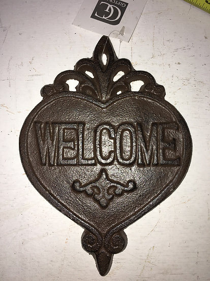 "Cast Iron ""Welcome"" Heart"