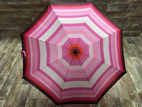 """41.5"""" x 34"""" Pink Striped Umbrella by GiftCraft"""