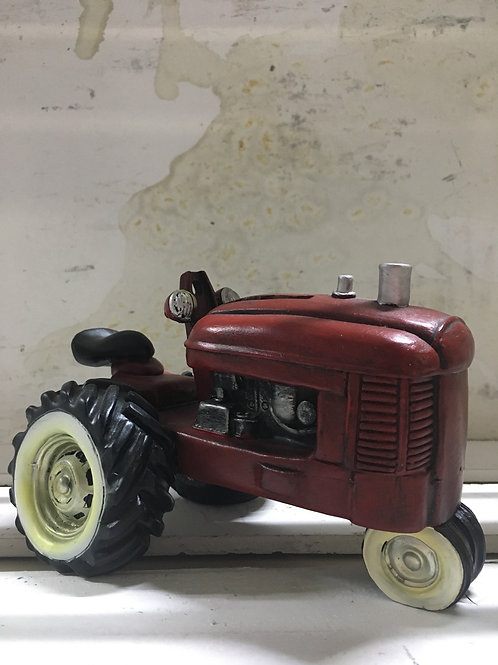 Red Tractor Piggy Bank