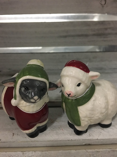 Santa Lamb Salt and Pepper Set