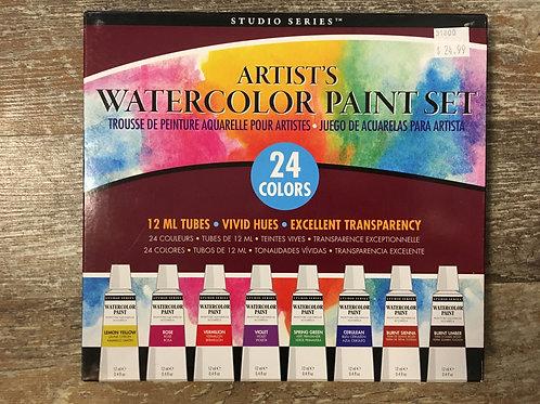 24 Colour Watercolour Paint Set by Studio Series