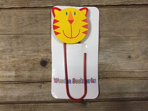 Yellow Cat Wood and Wire Bookmark