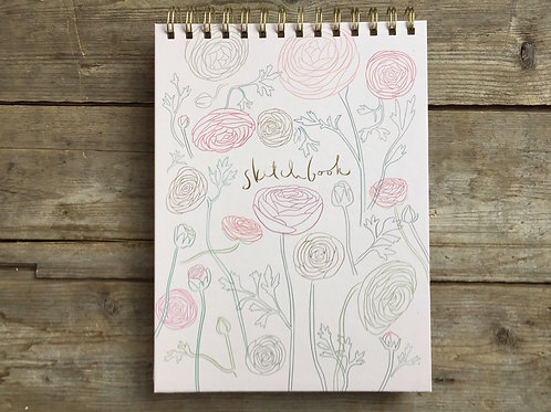 """10.5"""" x 7.5"""" Spiral Bound Premium Sketchbook with 60 Pages by Fringe"""