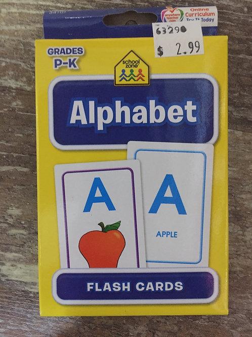 Alphabet Grades P-K Ontario Curriculum School Zone Flashcards