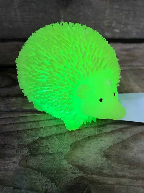 Yellow Flashy Light Up Squishy Silicone Hedgehog Toy by CLS