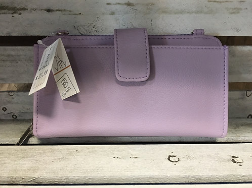 RFID Protecting Wallet/Purse with Smartphone Pocket and Strap