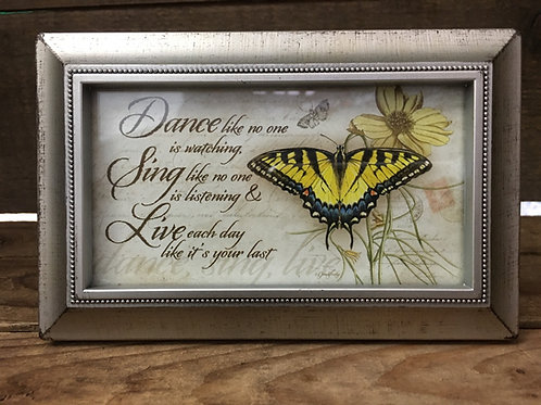 """6""""x 3.75"""" Antiqued Silver Plastic Frame with Sentiment by Carson Home Accents"""