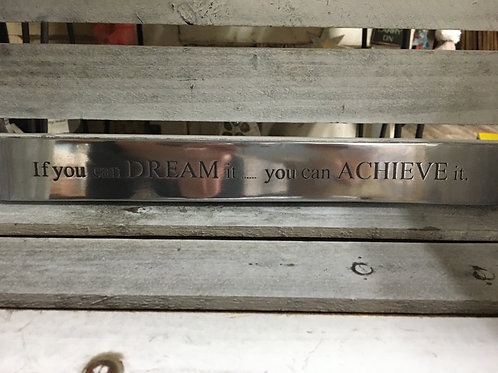 Metal Ruler with Quote