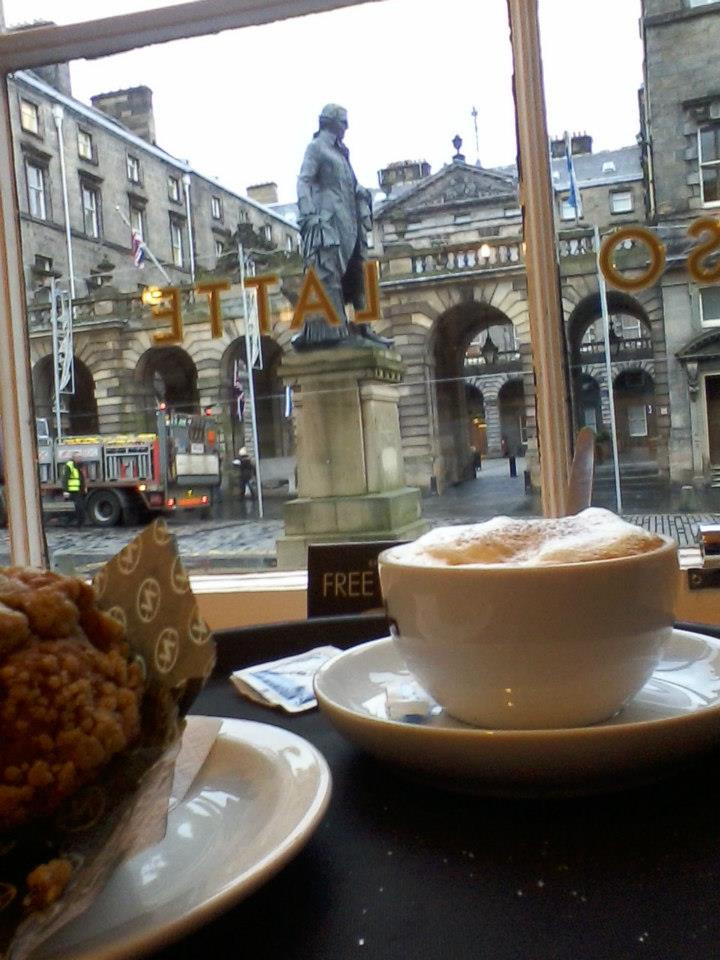 Coffee, muffin, St. Giles