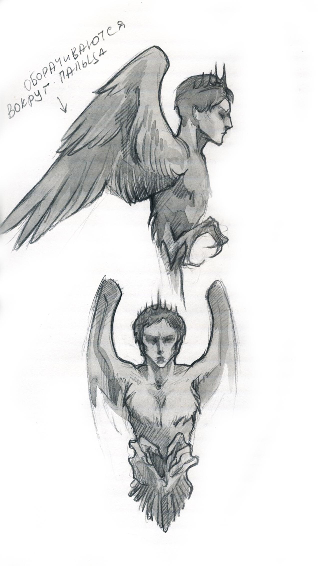 """Кольцо """"Ангел"""", эскиз"""