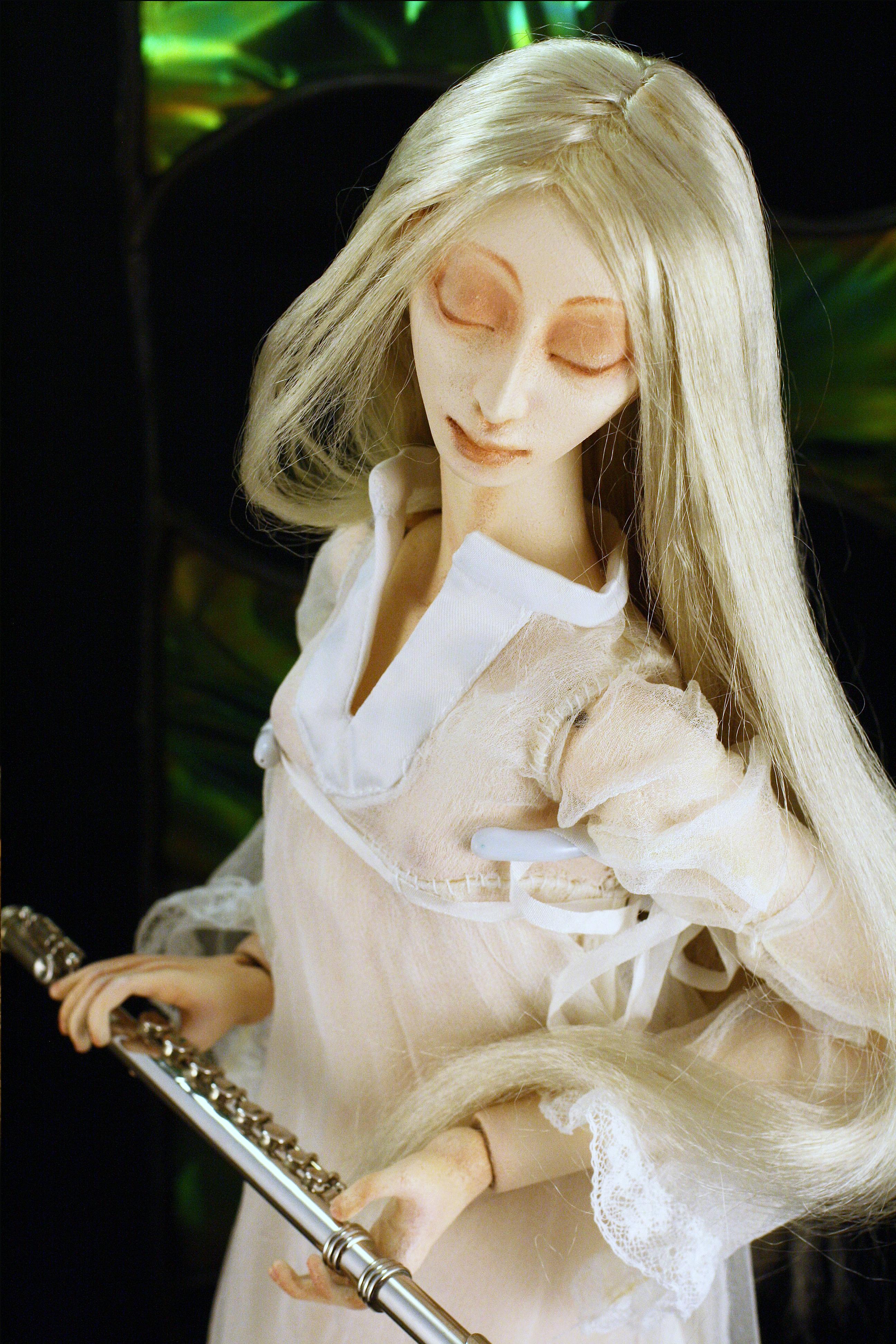 """Авторская кукла """"Танец белой дриады"""""""