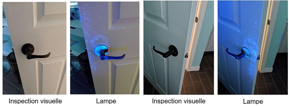 Illumination des germes d'une porte