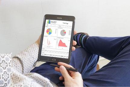 Rapportsur une tablette