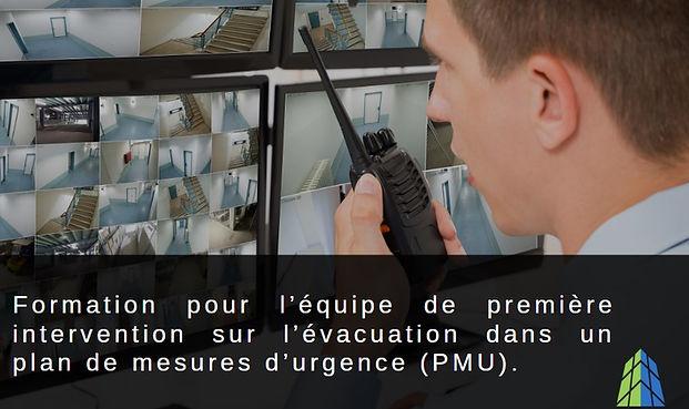 Formation plan de mesures d'urgence (pmu)