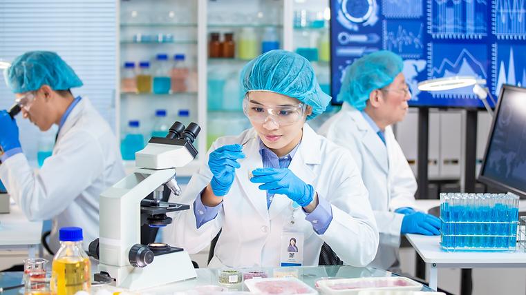 Laboratoire de recherche avec microbiologiste