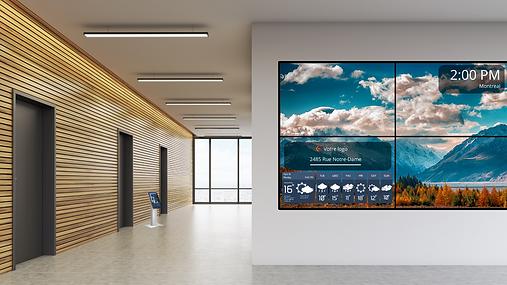 Mur d'écran, Borne intéractive / Active directory