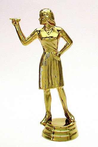 Dart Figur weiblich Gold 129mm