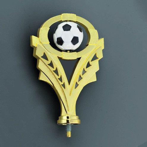 Fussball Figur Gold / Ball weiss 125mm