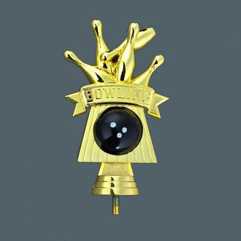Bowling Figur Gold Schwarz 140mm