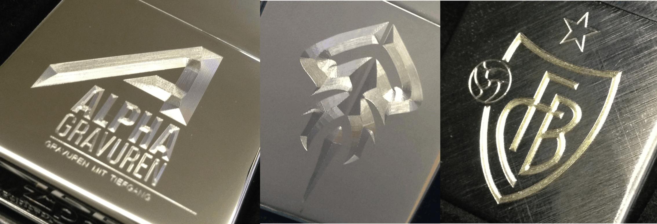 Diamantgravuren auf Zippo's