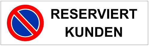 Parkverbot Schild Reserviert Kunden 1 Symbol