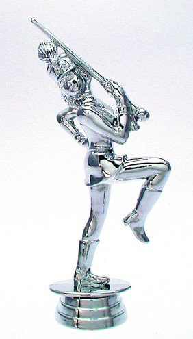 Karneval Figur Silber 152mm