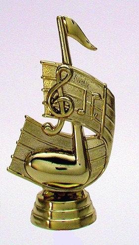 Noten Schlüssel Figur Gold 108mm