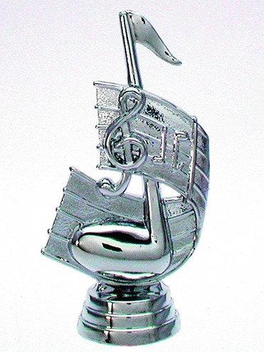 Noten Schlüssel Figur Silber 108mm