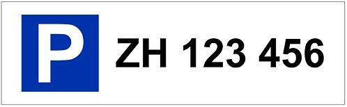 Parkschild Autonummer